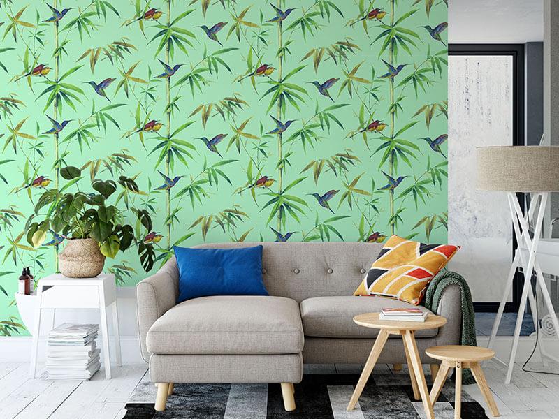 Tropikalna tapeta w liście