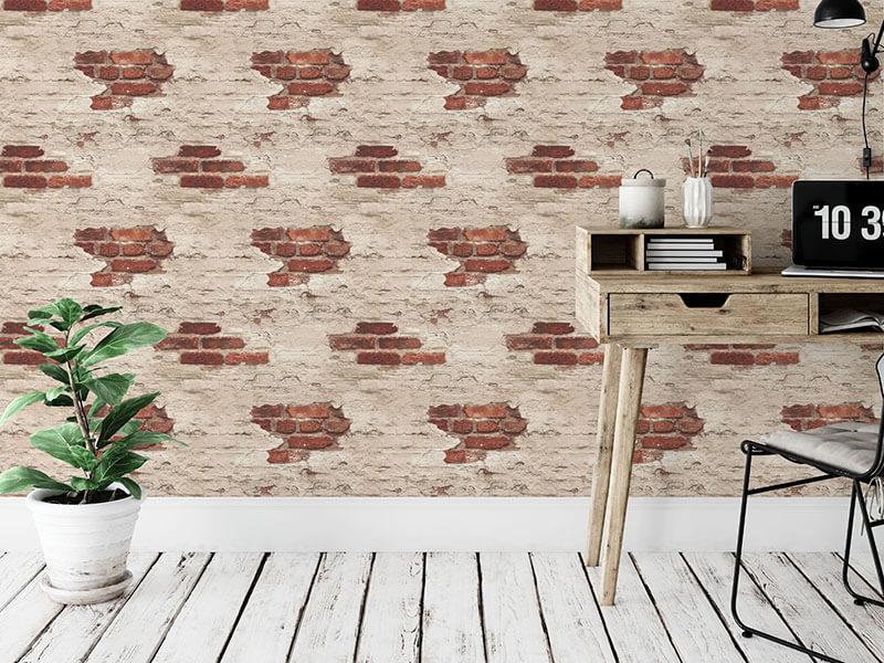 Tapeta ścienna imitacja cegły