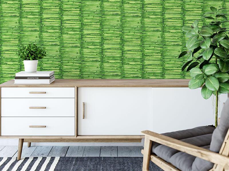 tapeta w tropikalne bambusy